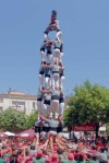 incrível pirâmide humana em Barcelona