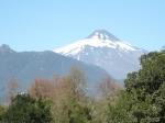 vista do vulcão Villarica a partir da cidade de Pucón