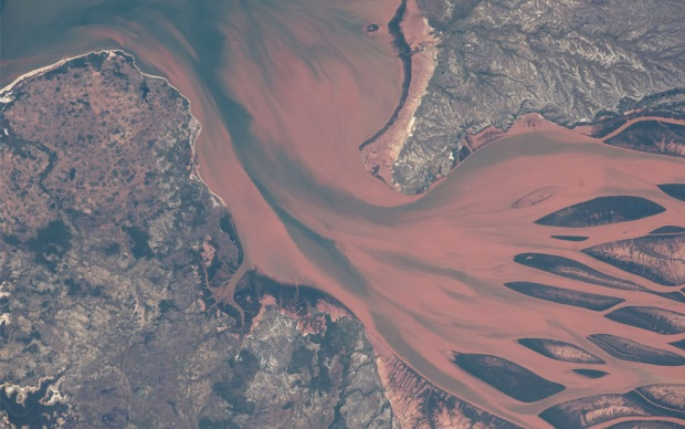 Betsiboka river delta madagascar